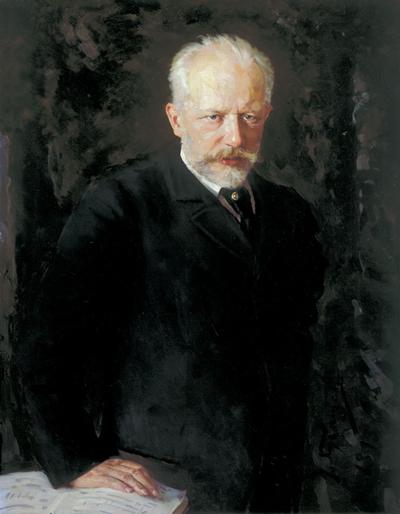 Nikolai Dmitriyevich Kuznetsov (1850 - 1929) Porträt des Komponisten P. I. Tschaikowski 1893, Öl auf Leinwand Staatliche Tretjakow-Galerie, Moskau