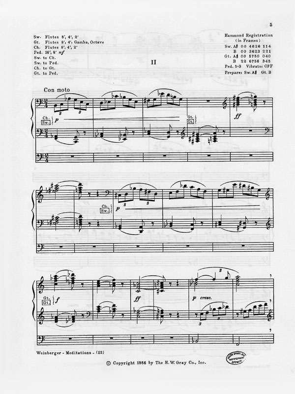 Nr. 2 aus Meditationen, Drei Präludien für Solo-Orgel